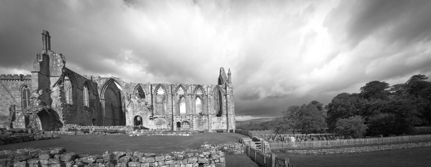 Made up of six images, this is Bolton Abbey in North Yorkshire